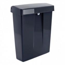 Postkast SUMMUS kunststof met slot (2 sleutels) Zwart RAL 9005