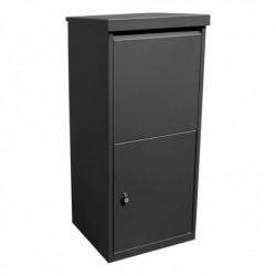 Pakket- en postkast 95cm x 41cm x 38cm zwart