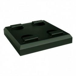 Ondervoet 45cm x 42cm x 7cm voor pakket- en postkast donker groen