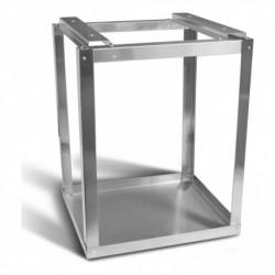 Grondmontage set voor pakket- en postkast, roestvast staal
