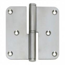 """Paumelles DIN links afgerond 3,5""""""""x3,5"""""""" (89x89x2,5) RVS"""