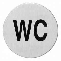Pictogram zelfklevend rond WC RVS