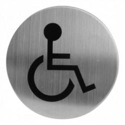 Pictogram zelfklevend rond WC minder valide RVS