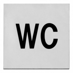 Pictogram zelfklevend vierkant 76x76 WC RVS