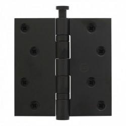 """Kogellagerscharnier recht 3.5"""""""" (89x89x2,5) zwart"""