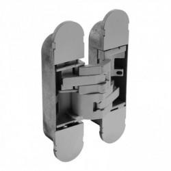 Scharnier zamak 130x30, 3D verstelbaar, binnenwerk grijs gelakt - grijs gelakte afdekkappen