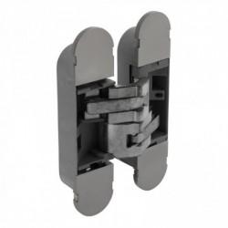 Scharnier fiberglas 130x30, 3D verstelbaar, binnenwerk verzinkt - vernikkelde afdekkappen