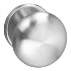 Knopkruk Paddestoel op rozet met ring RVS