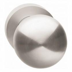 Knop 212600 rond centraal vast op ronde rozet, 7mm nok met stift M10/8x89mm nikkel mat