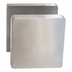 Knop 212602 vierkant centraal vast op vierkant rozet 7mm nokken met stift M10/8x89mm nikkel mat