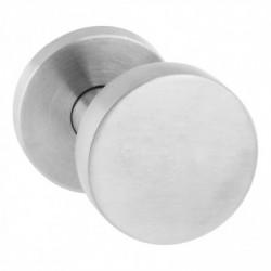 Knop 218630 rond verkropt vast op ø55 rozet staal 7mm nok met stift M10/89 RVS (EN1916/4)