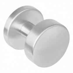 Knop 224610 rond centraal vast op ø53 rozet staal 7mm nok met stift M10/8x89 RVS