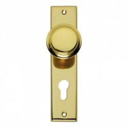 Renovatie knopkortschild met profielcilindergat - Messing Gelakt