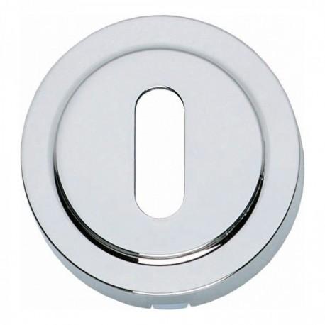 Sleutelplaatje Entrata rond verdekt rand chroom