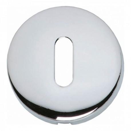 Sleutelplaatje bol rond verdekt kunststof chroom