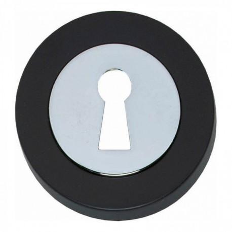 Sleutelplaatje Cali verdekt vlak chroom/zwart
