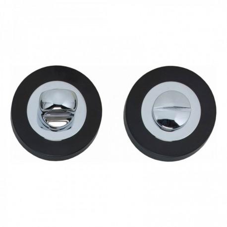 WC-sluiting Cali 8mm verdekt vlak chroom/zwart