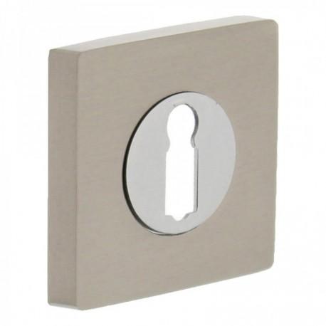 Sleutelplaatje vierkant 53x8 met 7mm nokken chroom/nikkel mat