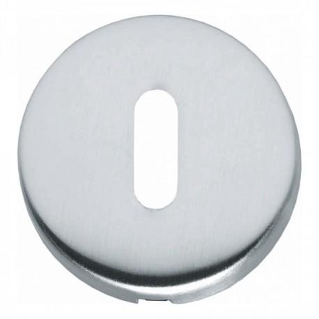 Sleutelplaatje bol rond verdekt kunststof chroom mat