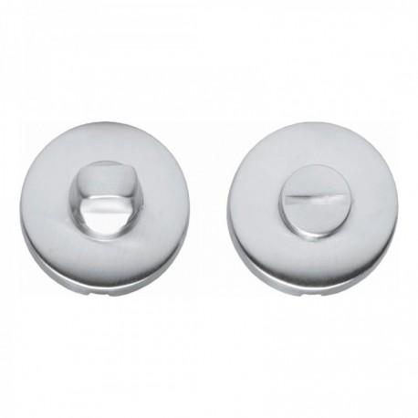 WC-sluiting 8mm bol rond verdekt kunststof chroom mat