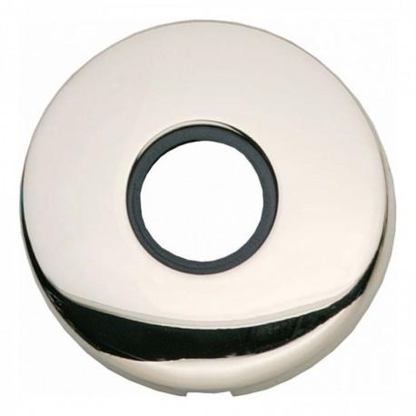 Rozet bol rond verdekt kunststof nikkel