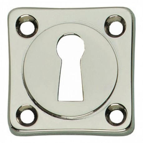Sleutelplaatje vierkant nikkel