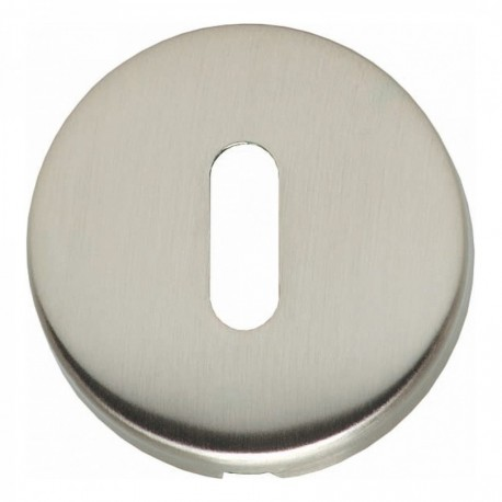 Sleutelplaatje bol rond verdekt kunststof nikkel mat