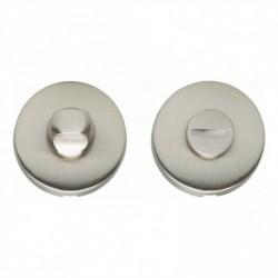WC-sluiting 8mm bol rond verdekt kunststof nikkel mat