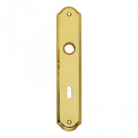 Schild 075 met sleutelgat - 229 mm lang bij 45 mm breed - Messing Gelakt