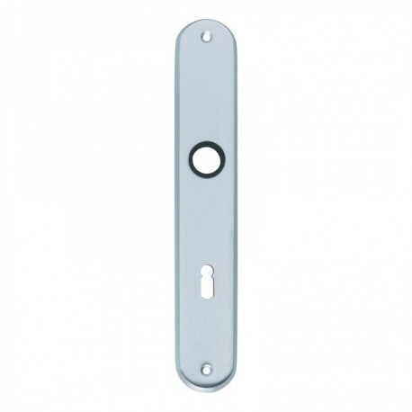 Langschild ovaal met sleutelgat - 235 mm lang bij 40 mm breed - Chroom Mat