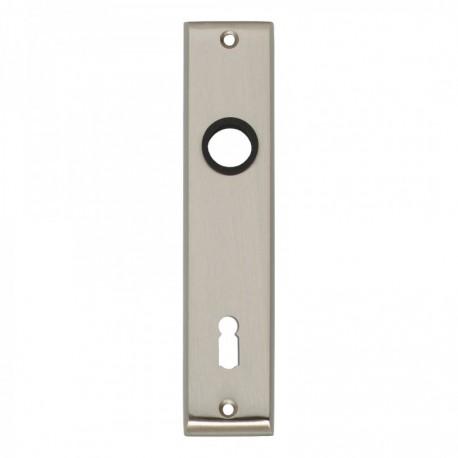 Kortschild afgeschuind met sleutelgat - 180 mm lang bij 41 mm breed - Nikkel Mat