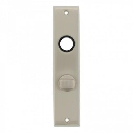 Kortschild afgeschuind met toiletsluiting - 180 mm lang bij 41 mm breed - Nikkel Mat