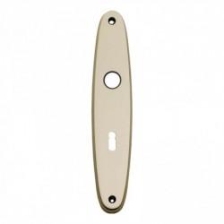 Schild ellips met sleutelgat - 224 mm lang bij 45 mm breed - Nikkel Mat