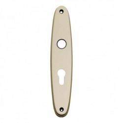 Schild ellips met profielcilindergat - 224 mm lang bij 45 mm breed - Nikkel Mat