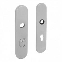 SKG3 (PKVW) Veiligheid-schilden met doorgaand profielcilindergat en kerntrek beveiliging - Chroom Mat