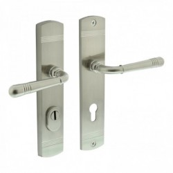 Security set Emily with handle/handle and cylinder protection - nickel satin