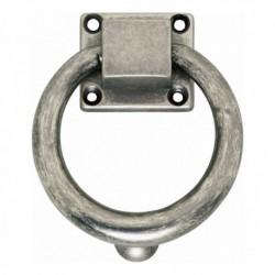 Deurklopper rond 107mm oud grijs