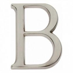 Huisletter B 50mm nikkel mat