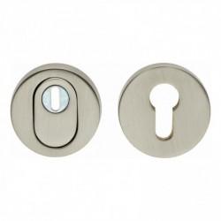 SKG3 Veiligheid-rozet rond met kerntrek beveiliging nikkel mat