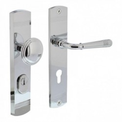 Security set Emily knob/handle with cylinder protection - chrome