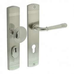 Security set Emily knob/handle with cylinder protection - nickel satin