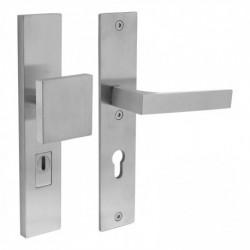 Veiligheidsbeslag rechthoekig Sliced No. 1 greep/kruk SKG*** met profielcilindergat en kerntrekbeveiliging (PKVW) - RVS