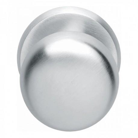 Voordeurknop zwaar ø80/75mm chroom mat