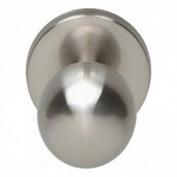 Voordeurknop bolrond ø50/60mm nikkel mat