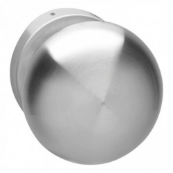 Knop paddestoel vast op rozet 10mm RVS