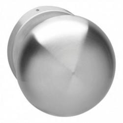Knop paddestoel vast op rozet 10mm met nokken RVS