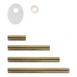 Bevestigingsset L doorgaand paarsgewijs alleen T-schuin voor hout / glas / pvc / alu. deurdikte10-65mm