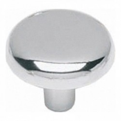 Knop plat 28mm chroom