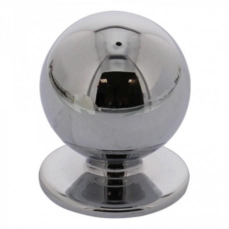 Knop bolrond 25mm chroom