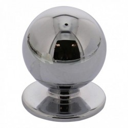 Knop bolrond 30mm chroom
